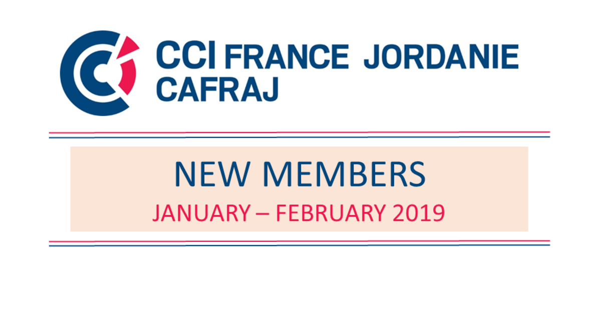New Members January - February 2019 | CCI France Jordanie